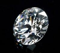 0.68CT Natural 6mm White Diamond G-H Color Round Cut VS1 Clarity Stunning