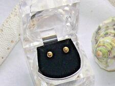 5mm 14K Yellow Gold Ball Stud Pierced Earrings .34 grams Free Shipping