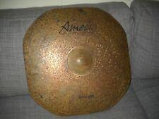 "Amedia, Turkish 24"" Ride Cymbal. ""Stingray Series"" Squared. Hand made. Fabulous"