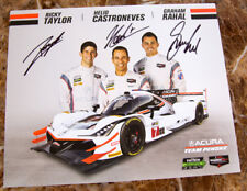 "8""X10"" SIGNED HERO CARD 24 HOURS OF DAYTONA #7 ACURA CASTRONEVES RAHAL R. TAYLOR"