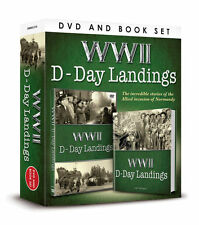 WWII D-DAY LANDINGS DVD & Book Gift Set NEW SEALED World War Two WW2 Normandy