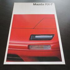 Mazda RX-7 Typ FC3S ab 1985 Prospekt Stand 1990