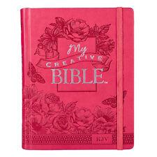 KJV HOLY BIBLE King James Version CREATIVE Pink Hardcover journaling coloring