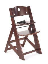 Keekaroo Height Right Adjustable Wooden High Chair Baby Kids' - Mahogany - New