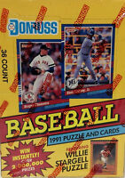 1991 Donruss Series 1 & 2 Baseball Team Set Baseball Cards You U Pick From List