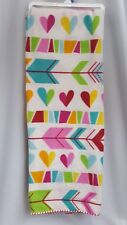 Hearts and Arrows Fleece Throw Blanket Valentines Day 52 x 66