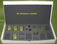 3 Company Boxes w/foam Rectangular Transport Tray, FoW.