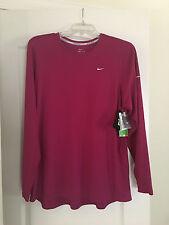 NWT Nike Women's Dri Fit Plus Size Long Sleeve Running Shirt 2X 2XL XXL