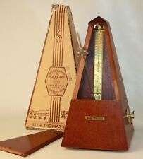 Vintage Seth Thomas Metronome De Maelzel Maple Model #7 Piano Instrument Pyramid