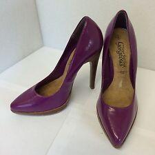 New Look patente Rosa Damas Tacón Alto Zapatos Talla Uk 3 EUR 36 Sexy L @ @ K