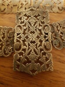Antique Nurses Buckle Belt Silver Plate, beautiful design. Victorian. V.Clean