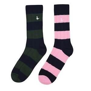 Jack Wills Mens 2 Pack Socks Crew Stripe Classic