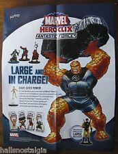 2005 Marvel HeroClix Advertising Poster/Sell Sheet (no figures)
