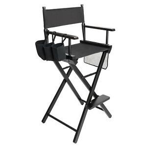 Foldable Artist Professional Tall Directors Chair Makeup Artist Movie Wood UK