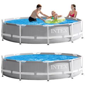 INTEX Prism Frame Swimming Pool auch mit Pumpe Schwimmbecken Stahlrohrbecken