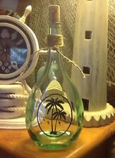 Etched Brandy Bottle, Palm Trees