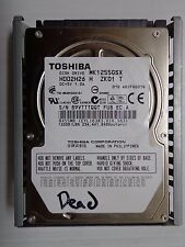 "Toshiba MK1255GSX 2.5"" IDE 120GB Laptop Hard Drive for Parts -10"