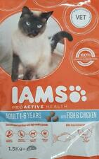 IAMS Adult Cat Food 1-6 Years 1.5kg Fish & Chicken
