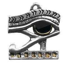 Pendentif Egyptien Oeil d'Horus En Étain Argenté + Chaîne