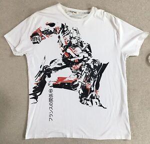 Official Transformers FCUK T-Shirt Optimus Prime Graphic Tee Men's XL