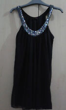 Ladies size 6 Miss Selfridge sequin beaded black top.Girls Going out party top