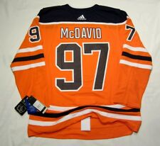 CONNOR McDAVID size 54 = size XL - Edmonton Oilers home style ADIDAS NHL JERSEY