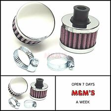 13mm UNIVERSAL  CRANK CASE/ ENGINE BREATHER FILTER 13mm CHROME FITS CLASSIC MINI