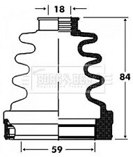 Borg & Beck Driveshaft Bellow CV Joint Boot Kit BCB2820 - 5 YEAR WARRANTY
