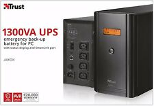 TRUST 20449, AXXON UPS 1300VA con i produttori di visualizzazione & 2 anni di garanzia