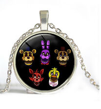 FNAF Five Nights at Freddy's Jewelry Necklace Pendants Antique Chain silver
