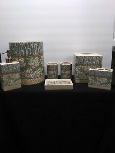 7 Piece Ceramic Bathroom Set