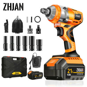 Brushless Cordless Electric Impact Torque Wrench Power Industrial Tool