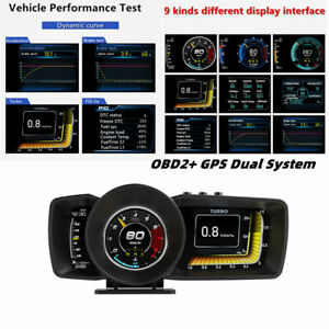OBD2+ GPS Projector HUD Head-up Display Dual System Driving Computer Code Table