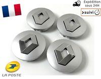 4x Cache Moyeu Jante Centre Roue Enjoliveur Logo insigne Renault 60mm Neuf