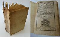 Libro antico 1782 TRATTATO ARITMETICO PRATICO CONTI FATTI Vittorio SARACENO '700