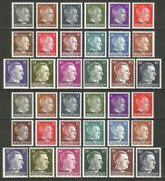 DR Nazi 3rd Reich Rare WWII Stamp Hitler Head Overprint UKRAINE OSTLAND Service