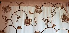 Pottery Barn Floral Embroidered Lined Drapes Curtains 2 Panels 50 x 96