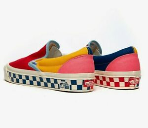 Vans Anaheim Factory Classic Slip-On 98 DX Shoes Women's Size 8 OG Color Mix