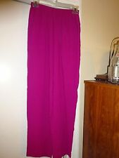 ALFRED DUNNER Ladies Womans Size Small Magenta Elastic Waist Pants Polyester