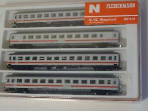 Fleischmann N  Art 861101 IC 4-teiliges Wagenset mit Steuerwagen   neuw/OVP