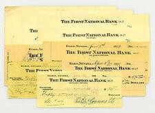 10 mixed Nevada & California USA bank checks early 1900's nice used