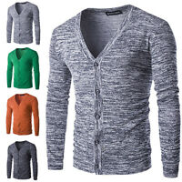 Stylish Men Casual Slim Fit V-neck Knitted Fashion Pullover Jumper Sweater SEXY#