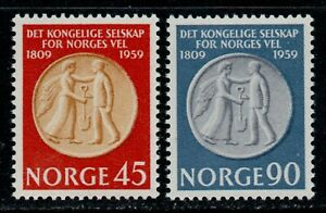 Norway Scott 376-377 Royal Agricultural Medal-150th Anniversary  MNH L1