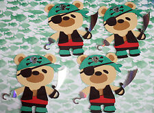 4 PIRATE   BEAR TOPPERS FOR CARDSOR  DECORATION  017