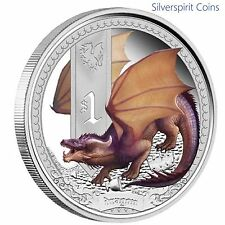 2013 MYTHICAL CREATURES DRAGON 1oz Silver Proof Coin