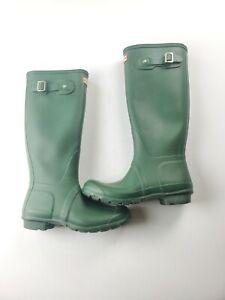 Hunter Women's Green Original Tall Matte Waterproof Rain Boots Size 6