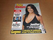 Télé Loisirs n° 877 décembre 2002 - Jénifer ; Johnny Hallyday ; Céline Dion ...
