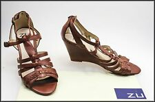 ZU WOMEN'S WEDGED HEELS STRAPPY OPEN-TOE FASHION SHOES SIZE 6.5