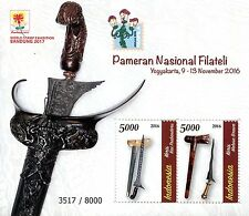 Indonesia 2016 MNH Pameran Nasional Filateli 2v M/S Stamp Exhibitions Stamps