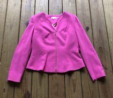 Calvin Klein women's 12 hot bubblegum pink gold zip long sleeve dress jacket